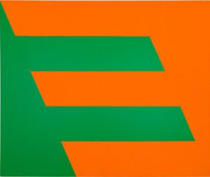 """Green and Orange"" (1958) by Carmen Herrera."