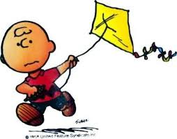 Charlie Brown with Kite