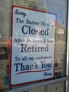 Barber Shop Closed