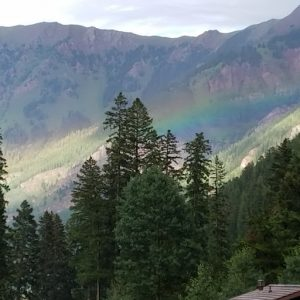 Rainbow near Maroon Bells