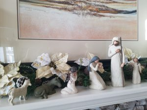 Creche on Mantel